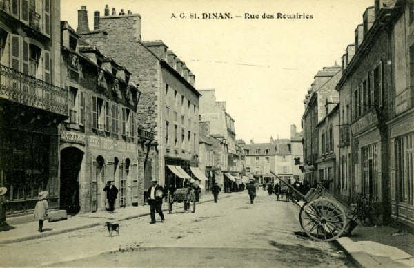 Dinan rue des rouairies il y a 100 ans - Rue du commerce cuisine ...